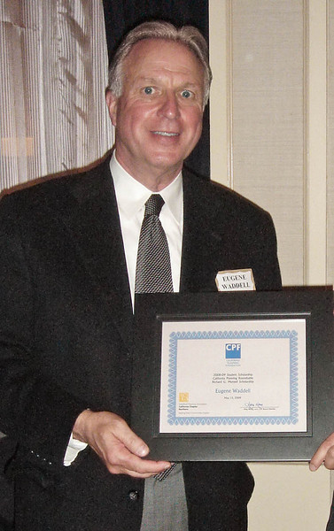Eugene Waddell, San Francisco State University, received the California Planning Roundtable/Richard G. Munsell Scholarship