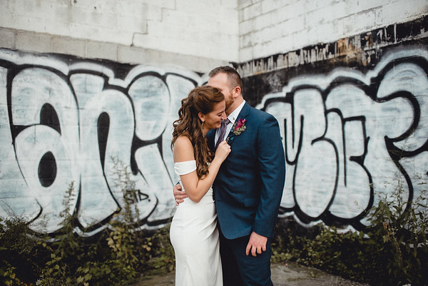 Alex + Roy Strip District Micro Wedding
