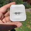 1.70ctw Old European Cut Diamond Clover Stud Earrings, GIA H-I SI 33