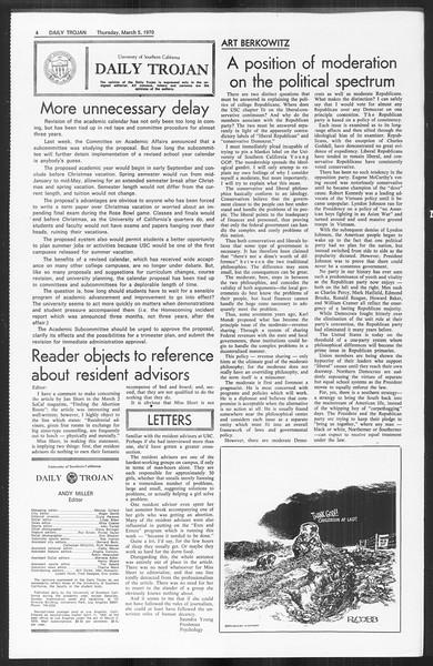 Daily Trojan, Vol. 61, No. 86, March 05, 1970