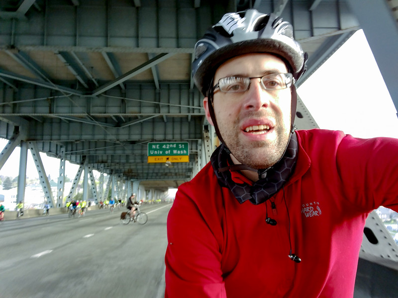 selfie on the I5 Express lanes, Ship Canal Bridge.
