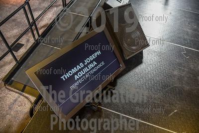 Ceremony Three Grads Walking  08/31/2018