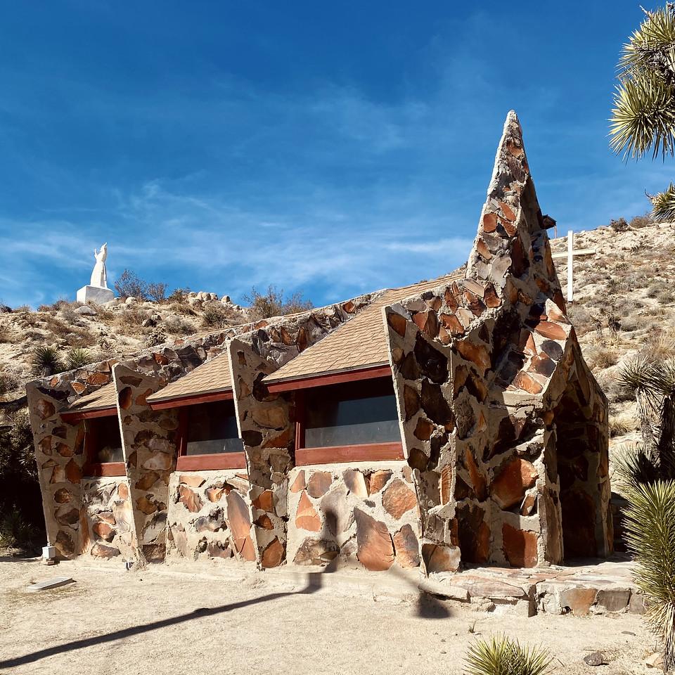 Christ Desert Park Yucca Valley California Rock Chapel
