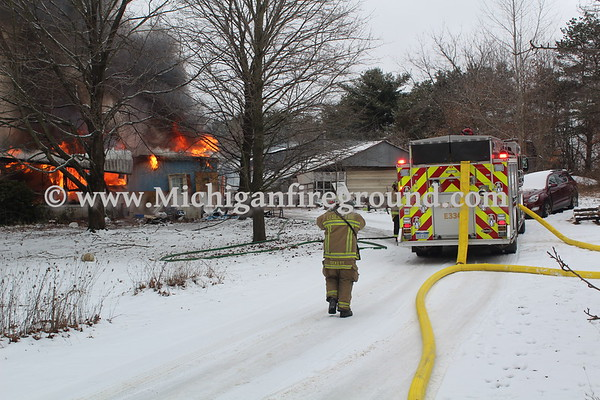 1/7/21 - Dansville mobile home fire, 2600 Parman Rd