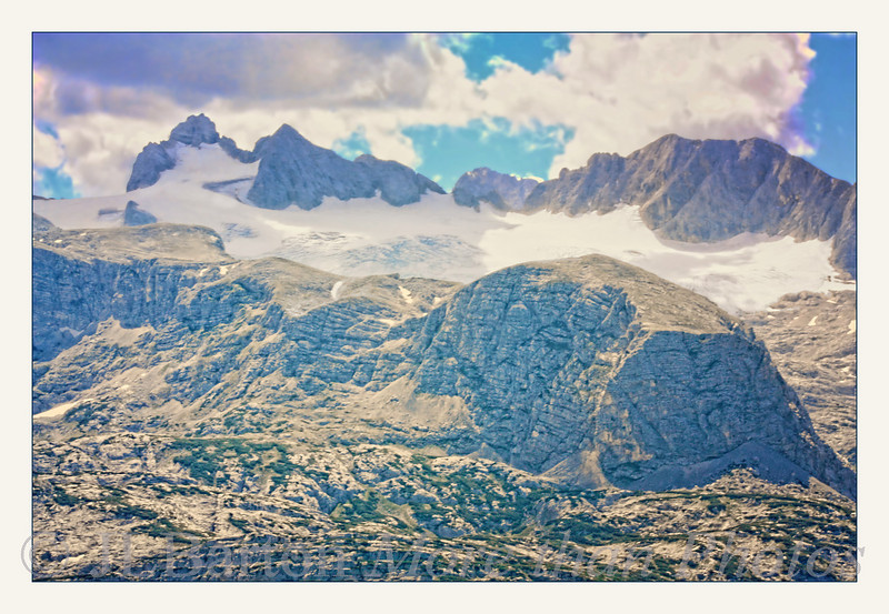 Dachstein Glacier in almost 3000 m. altitude This glacier lost 20 meter length and 5.5 meter thickness in 2008