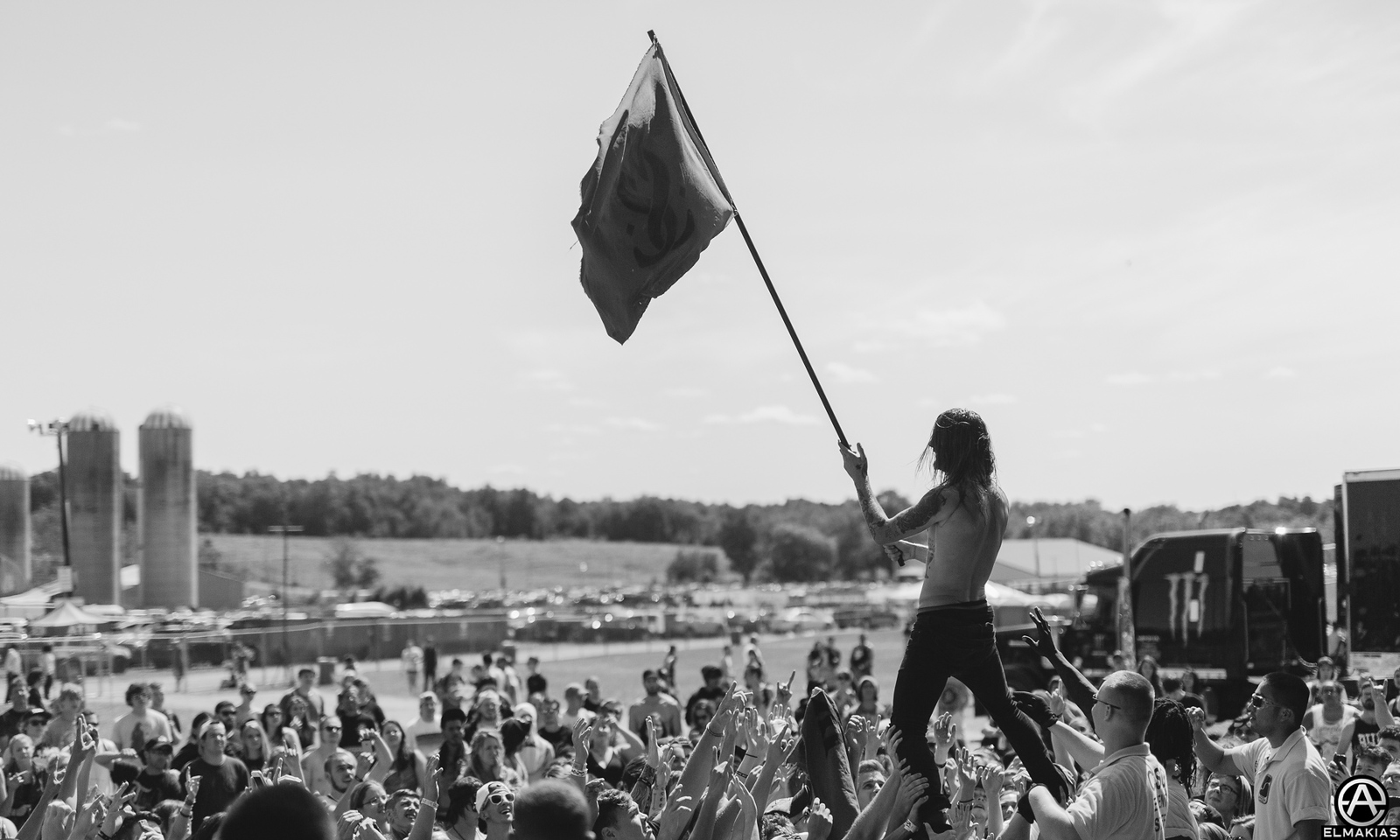 Lawrence Taylor of While She Sleeps live at Vans Warped Tour 2015 by Adam Elmakias