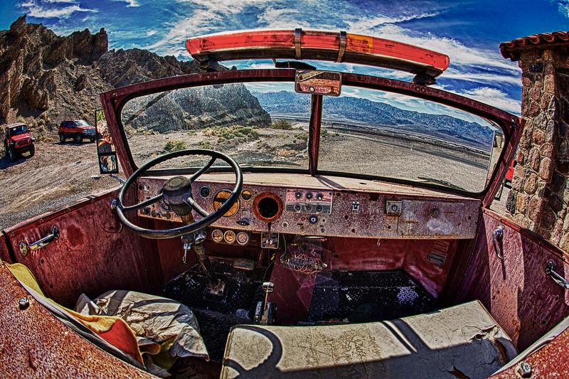 Firetruck in Death Valley