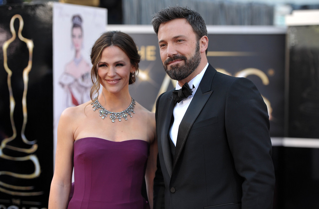 . In this 2013 file photo, actors Jennifer Garner, left, and Ben Affleck arrive at the Oscars at the Dolby Theatre on Sunday Feb. 24, 2013, in Los Angeles.  Garner and Affleck filed divorce petitions on Thursday, April 13, 2017, the first step in formally ending their marriage more than a year after they publicly declared their relationship was over. (Photo by John Shearer/Invision/AP)