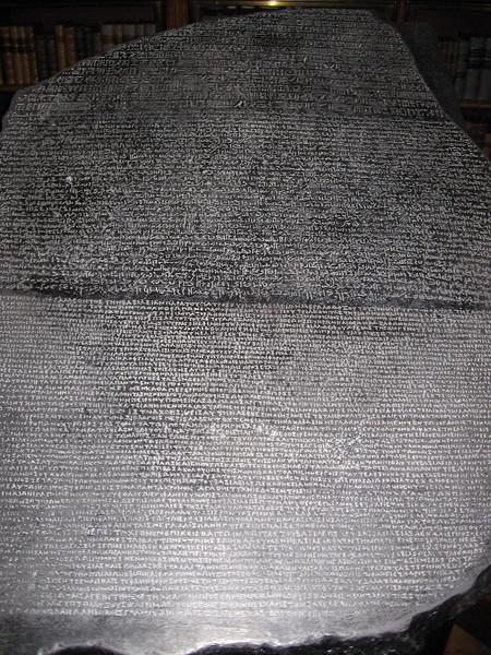 The Rosetta Stone--The British Museum