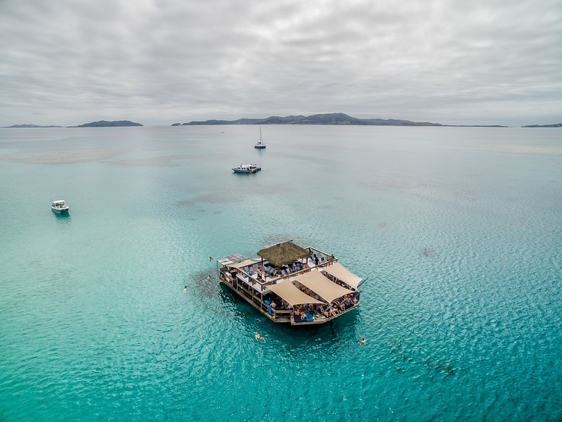 Drone photo of Cloud 9 in Fiji