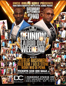 """UNCLE BUGZ ANDRE NOBLE  """"REUNION LABOR DAY WEEKEND""""(15)"""