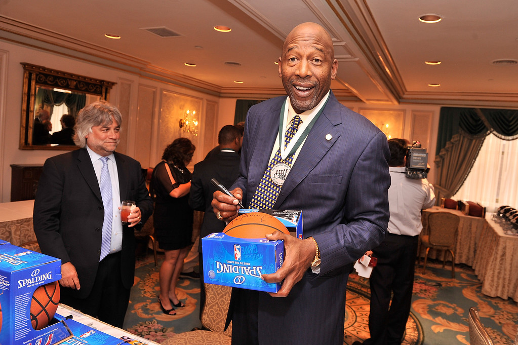 . Legend and former NBA player James Worthy attends the 28th Annual Great Sports Legends Dinner to Benefit The Buoniconti Fund To Cure Paralysis at The Waldorf Astoria on September 30, 2013 in New York City.  (Photo by Stephen Lovekin/Getty Images for The Buoniconti Fund To Cure Paralysis)