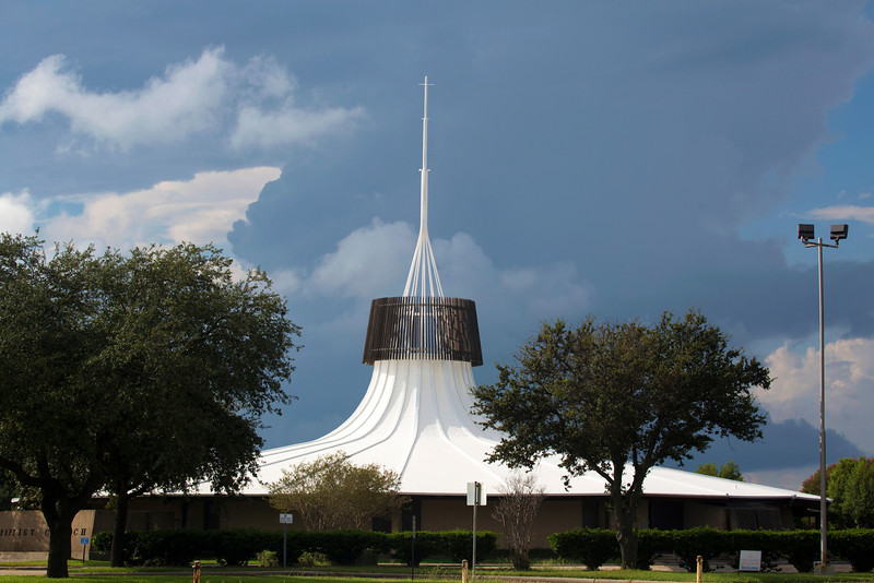 Now we head home to Houston through Texas City.  Here's a pretty church design in the center of town.