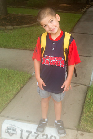 Caden 1st Day of 1st Grade