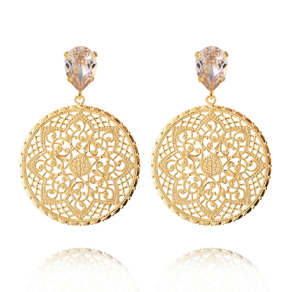 Alexandra Earrings / Silk / Gold