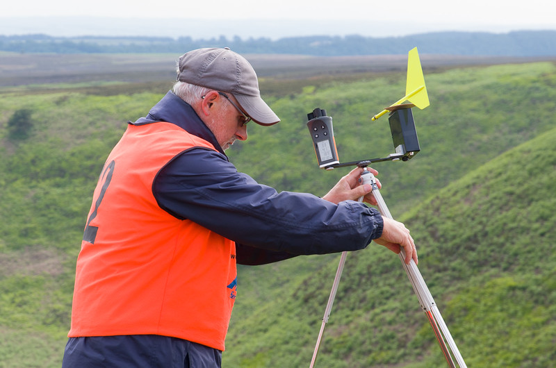 Jon E positions the wind meter