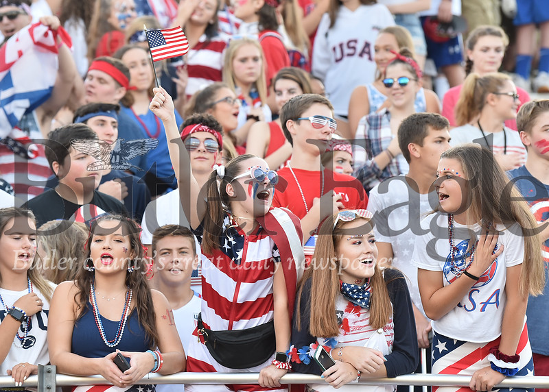 Mars student section at home game against Penn Hills