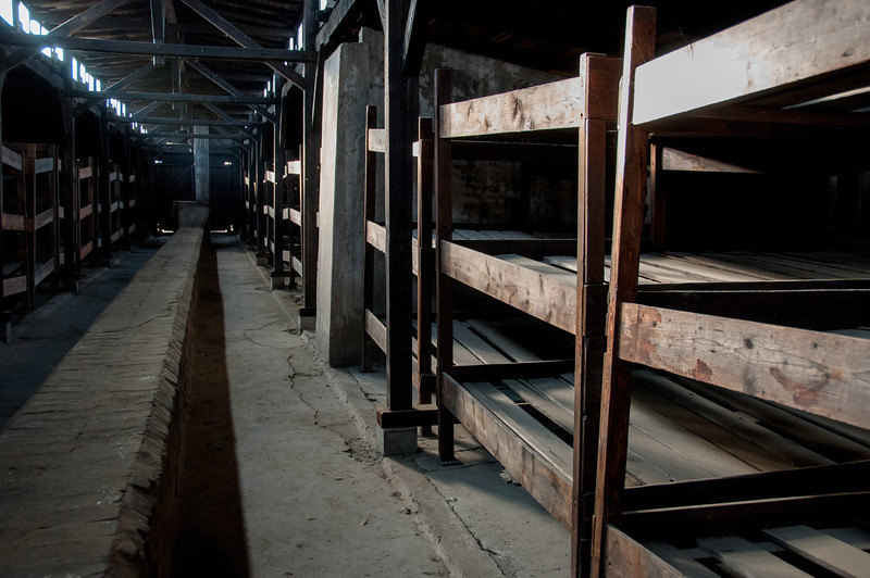 The sleeping quarters at Auschwitz Birkenau in Poland
