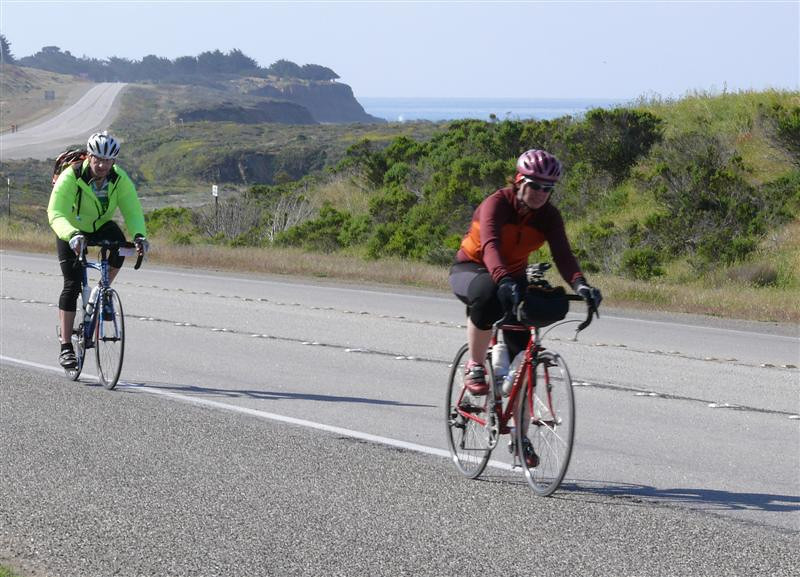 Veronica and Ira heading up the coast on PCH.