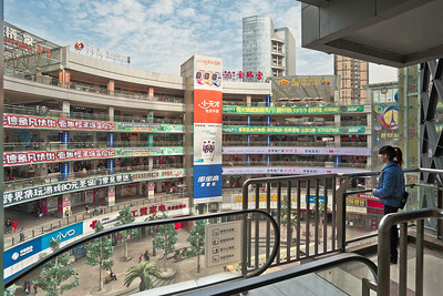 Wuhan, Hubei Province. World City Optical Valley Pedestrian Street, which touts itself as the world's longest.