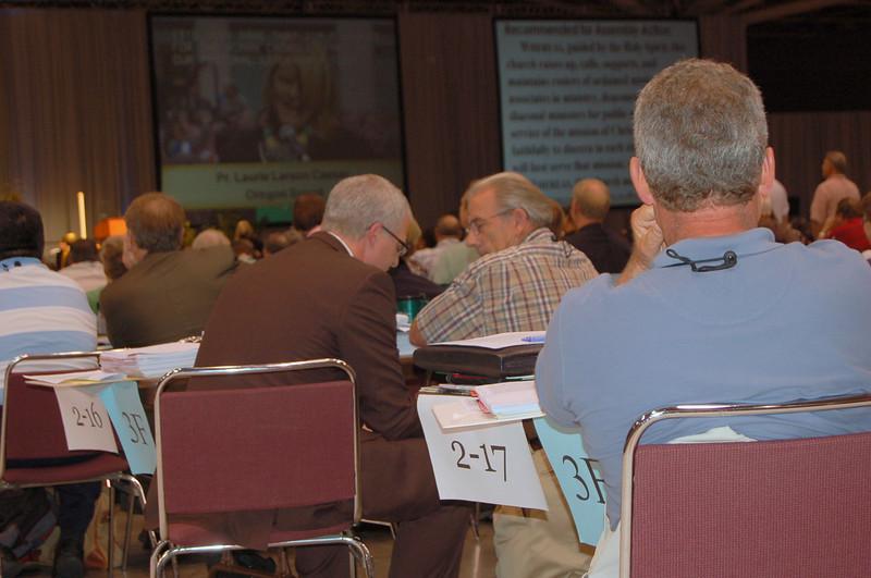 Voting members in plenary session nine.