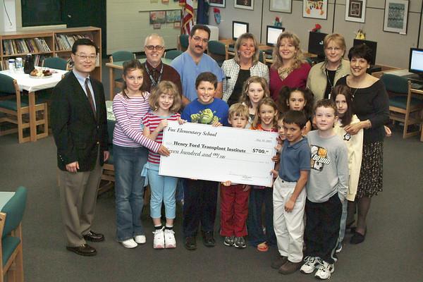 Fox School donation 2005