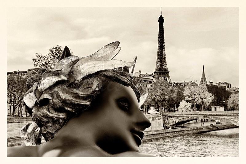 Eiffel tower from Alexandre 3 bridge