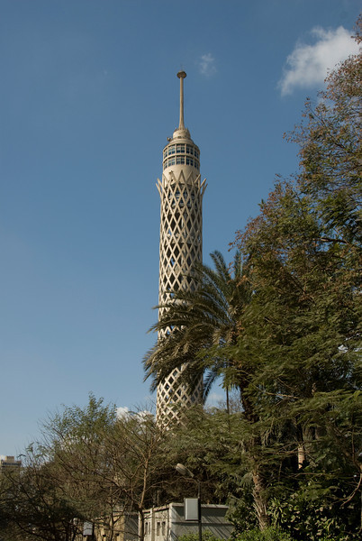 Isolated shot of the Cairo Tower - Cairo, Egypt