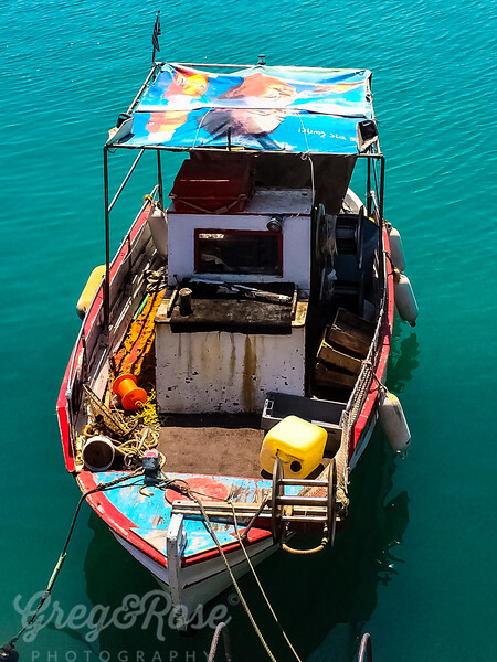Colourful Craft in Heraklion Harbour