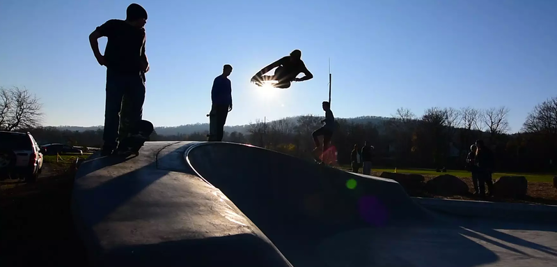 Nyack Skatepark Video with Aerials