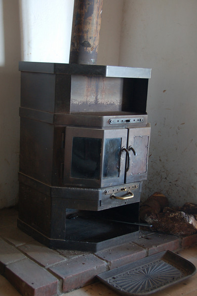 This is the fireplace that kept us so blissfully warm at night
