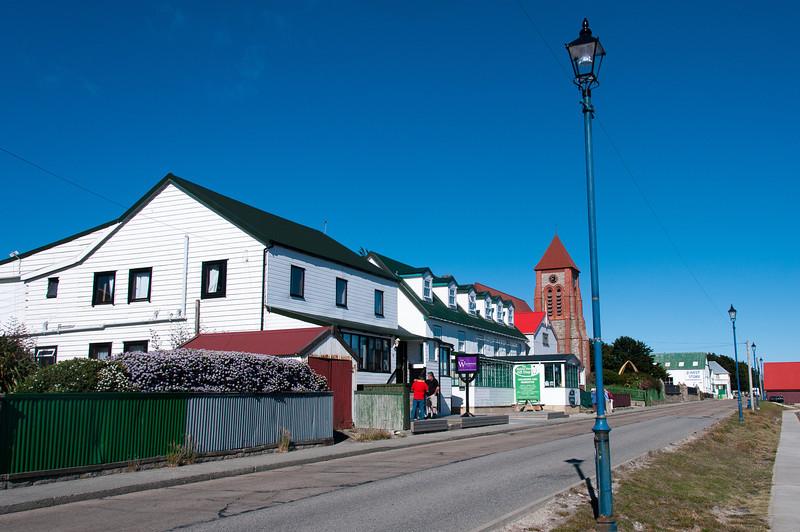 Street scene in Stanley, Falkland Islands