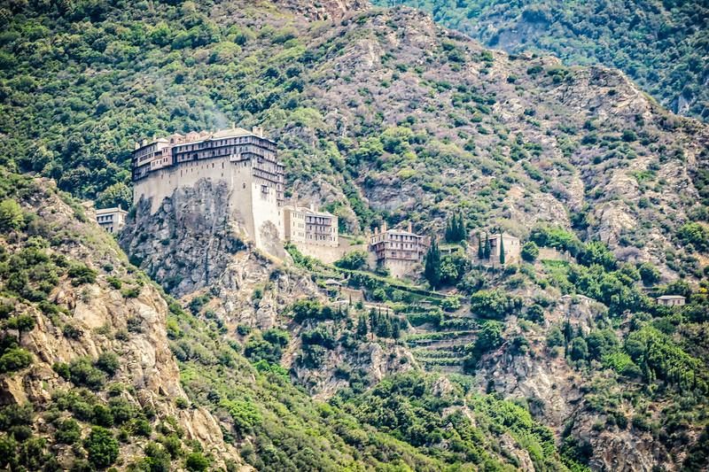 monastery built into the hillside
