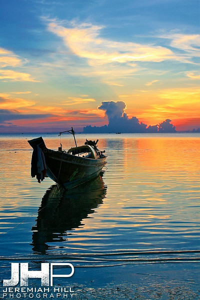 """Last Boat Of The Season #1"", Ko Phan Ngan, Thailand, 2007 Print TH-340"