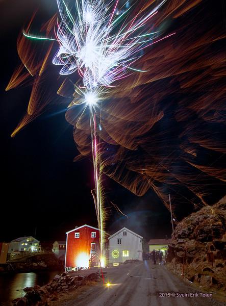 New year 2016 - celebration in Nyksund