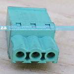 SKU: AE-BLOCK/508/S3, Green Connector 5.08mm Pitch Straight Side Feed 3 Way PCB Cable Terminal Block, 3Pin Plug in Screw