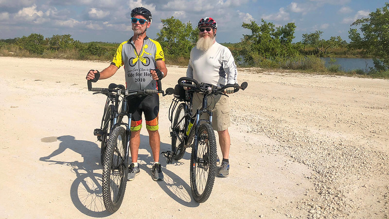 Bill and John with Trek Sky bikes Southern Glades Trail