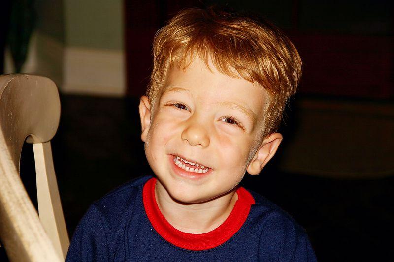 Harry's smile.