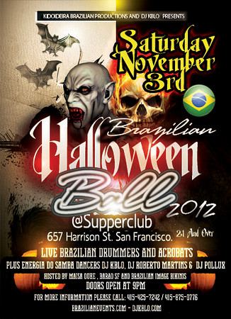 BRAZILIAN HALLOWEEN BALL 2012 AT SUPPERCLUB