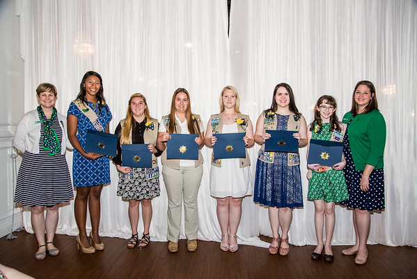Chattanooga Girl Scouts Gold, Silver, and Bronze Awards May 3rd, 2015