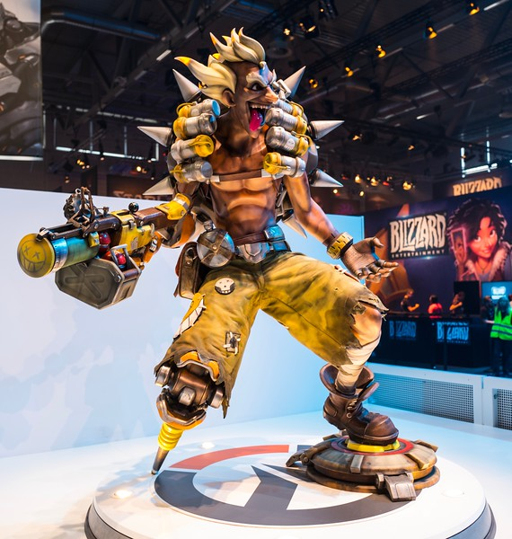 Overwatch booth at Gamescom 2017