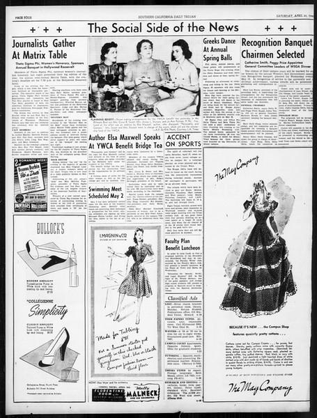 Daily Trojan, Vol. 31, No. 129, April 20, 1940