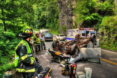 MVA Rollover, Bear MT. Bridge Rd. 7-23-14
