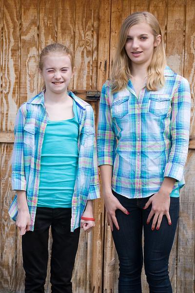 Hannah and Sara at Easter