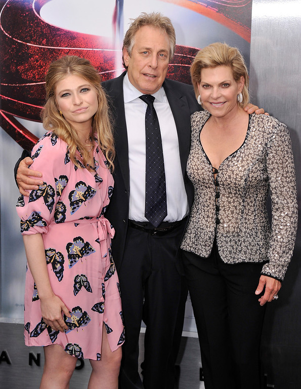 ". Rebecca Roven, producer Charles Roven and guest attend the ""Man Of Steel\"" world premiere at Alice Tully Hall at Lincoln Center on June 10, 2013 in New York City.  (Photo by Stephen Lovekin/Getty Images)"