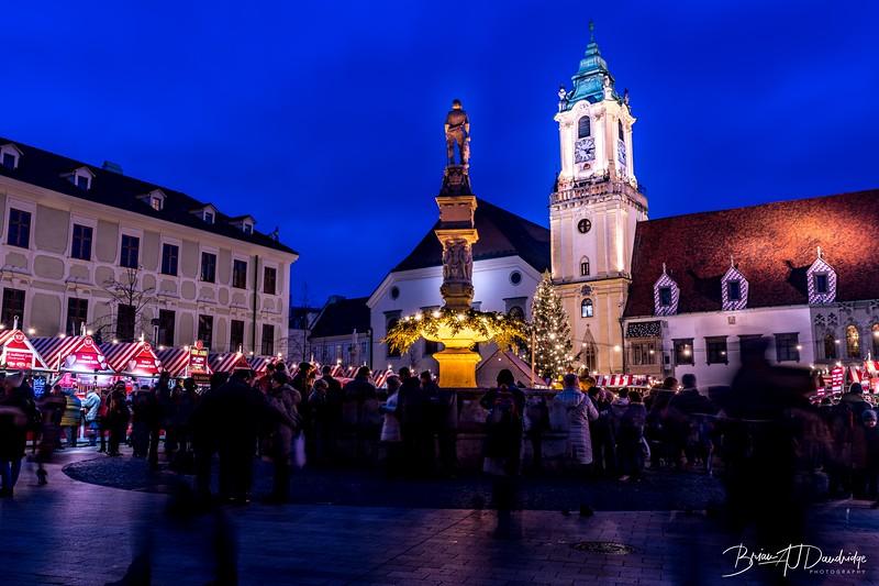 All lit up in Bratislava