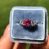 1.71ctw Ruby and Diamond Trilogy Ring 10