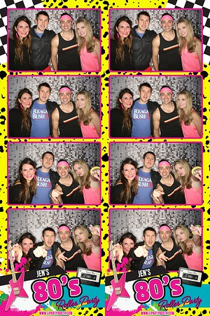 Jen's 80's Roller Party