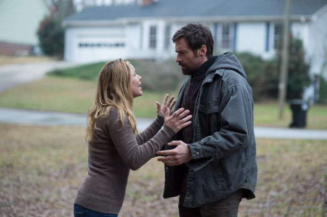 """. This image released by Warner Bros. Pictures shows Maria Bello, left, and Hugh Jackman in a scene from \""""Prisoners.\"""" (AP Photo/Warner Bros. Pictures, Wilson Webb)"""