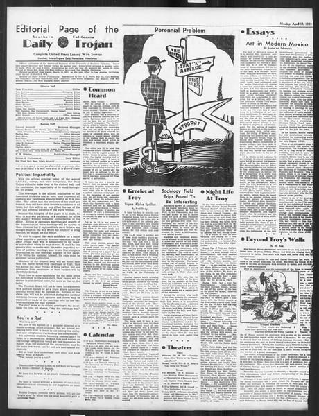 Daily Trojan, Vol. 26, No. 117, April 15, 1935